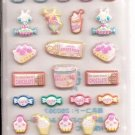 Lemon Co. Bunnies and Sweets Puffy Mini Sticker Sheet