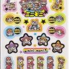Showa Note Mini Moni Cute Japanese Band Shiny Rainbow Sticker Sheet