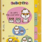 Sanrio Corocorokuririn 6-Ring Organizer Tabs