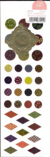 Active Corporation Japanese Patterns Sticker Sheet