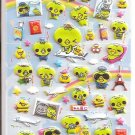 Crux Kappa San World Travel Puffy Sticker Sheet