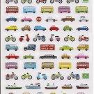 Mind Wave Vehicles Sparkly Sticker Sheet