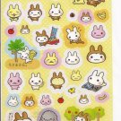 Media Factory Usaru Bunny in Monkey Costume with Friends Sticker Sheet