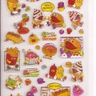 Pool Cool Fast Food Friends Sparkly Sticker Sheet