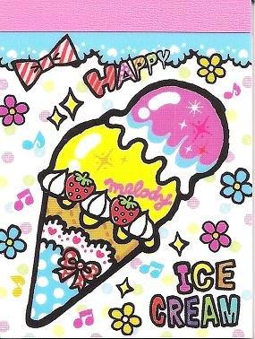 Kamio Ice Cream Mini Memo Pad