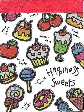 Crux Happiness Sweets Mini Memo Pad