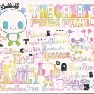Crux The Greatest Panda Family Mini Memo Pad