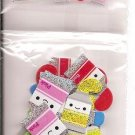 Q-Lia Smile Drawn Time Paint Tubes Long 5-Part Sticker Strip