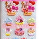 Lemon Co. Cupcakes, Macarons, and Candies Mini Sticker Sheet with Rhinestones