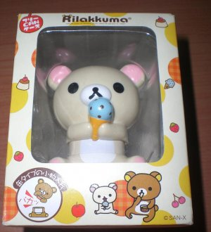 San-X Korilakkuma Bear Ice Cream Container Figure