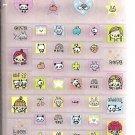 Kamio Smile Cute Girls 3D Block Sticker Sheet