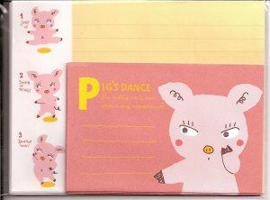 Japanese Pig's Dance Letter Set