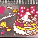 Japanese Swimmer Sweet Cake Spiral Notebook