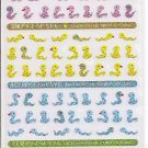 Mind Wave Fortune Multicolored Snakes Sparkly Sticker Sheet