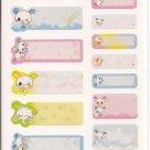 Kamio Shabon Usachan Name Tags Sticker Sheet