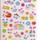 Kamio Pandas and Bunnies Sparkly Sticker Sheet
