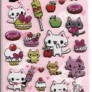 Lemon Co. Cats and Sweets Glittery Puffy Sticker Sheet
