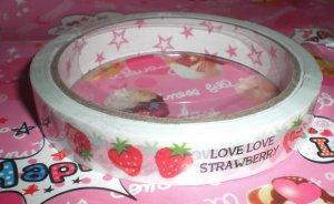 Mind Wave I Love Strawberry Medium Deco Tape