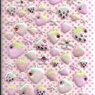 Q-Lia Strawberries and Flowers with Rhinestones Sticker Sheet