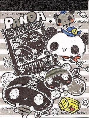 Kamio Panda Wanted Mini Memo Pad