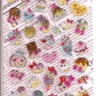 Crux Candy Glitter Seal Desserts Hard Epoxy Sticker Sheet
