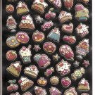 Crux Glittery Puffy Desserts Sticker Sheet