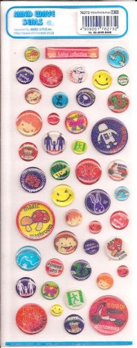 Mind Wave Badge Collection Sparkly Sticker Sheet