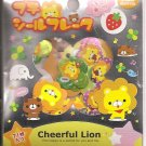 Kamio Cheerful Lion Foil Sticker Sack