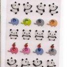 Ark Road Pandas and Elephants Sparkly Sticker Sheet