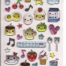 Q-Lia Tiny Cafe Sparkly Sticker Sheet