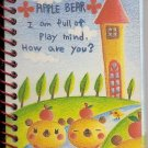 Kamio Apple Bears Mini Spiral Notebook