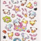 Crux Baby Angel Animals Glittery Sticker Sheet