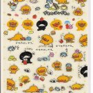 San-X Yellow and Black Ducks Sparkly Sticker Sheet