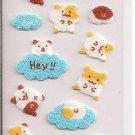 San-X Felt Hamsters and Clouds Sticker Sheet