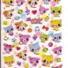 Q-Lia Colorful Dogs Hard Epoxy Sticker Sheet