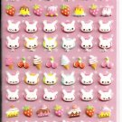 Kamio Milky Chan Bunnies Puffy Sticker Sheet