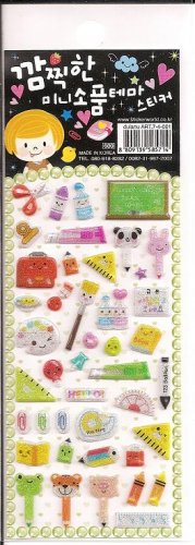 Korean Stationery School Supplies Mini Sticker Sheet