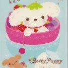San-X Berry Puppy Blue Mini Memo Pad