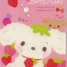 San-X Berry Puppy Pink Mini Memo Pad