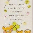 Crux Bear Clovers Sweet Happiness Mini Memo Pad