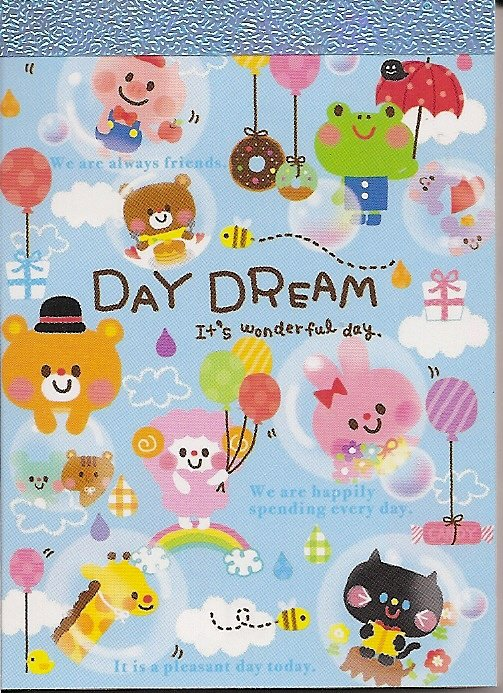 Q-Lia Daydream Blue Friends Mini Memo Pad