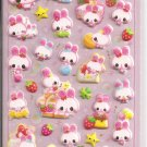 Kamio Sweet Rabi Rabi Puffy Sticker Sheet