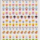 Kamio Petit Mark Seal Mini Animals Sticker Sheet