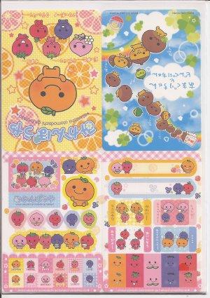 San-X Mikan Bouya, Amaguri, and Friends Jumbosealdass Sticker Booklet #10