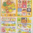 San-X Mikan Bouya and Friends Jumbosealdass Sticker Booklet #14