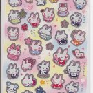 San-X Kawaii Bunnies Sparkly Sticker Sheet