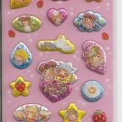 Kamio Kawaii Girl Baby Friends Sparkly Puffy Sticker Sheet