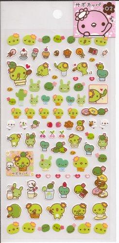 San-X Sabo Kappa Pink Sticker Sheet #2