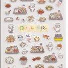 San-X Nyan Nyan Nyanko School Lunch Pink Sticker Sheet #1