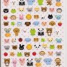 Q-Lia Petit Mark Mini Animal Heads Sticker Sheet